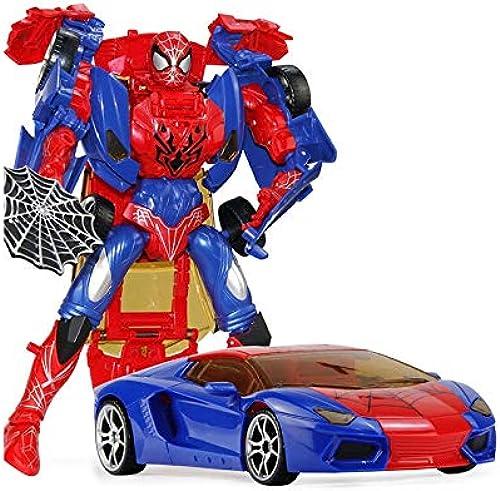 Kinder p gogisches Spielzeug Verformung Spinne Avengers Robot Alliance Modell junge Spielzeug Verformung Auto Modell Geschenk