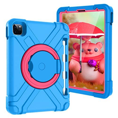 Funda para iPad Pro 11 Inch 2nd & 1st Generation 2020/2018, a Prueba de Golpes, Resistente, híbrida, de Tres Capas, Armor Defender, para niños, a Prueba de niños (Color : Blue/Rose)