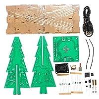 ZT-TTHG MP3機能カラフルなRGB DI LEDフラッシュキット科学実験モジュールと透明カバークリスマスツリーと