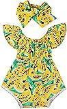 Eastery - Body para bebé con diseño de sandías, para verano, estilo simple, informal, con diseño de sandías, para niñas Amarillo Amarillo. 6-12 Meses