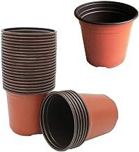 DOITOOL 20PCS Plastic Plant Nursery Pots for Seeding Flower Pots 9CM Flower Plant Container Seed Starting Pot (9CM)