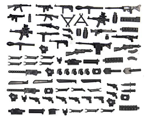 MAGMABRICK Magma Brick:Waffen Set im zweiten Weltkrieg für Großem Marken Bausteine Minifigur / Lego MOC. 88 Stück