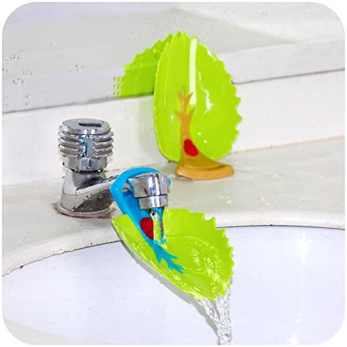 Yonisun Faucet Cover, Leaf Design Safety Faucet Extender For Children Toddler Kids Hand Washing Baby Kids Hand Wash H...