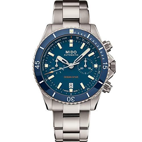 Mido orologio Ocean Star Chronograph 44mm BLU automatico Titanio M026.627.44.041.00 - Default Title