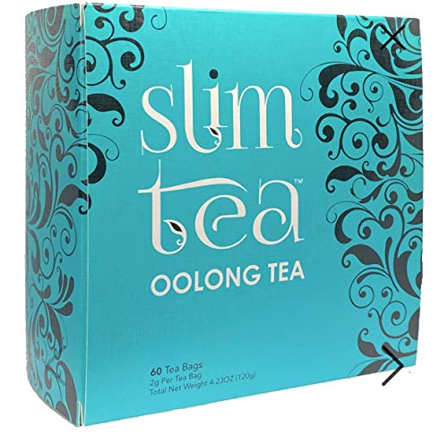 SlimTea Kenyan Oolong Tea - Highly Concentrated Slimming Tea to Burn Calories - All Natural Weight Loss, Detox, Diet Tea, Anti-Acne - Special Proprietary Blend with High EGCG - 1 month supply 96g