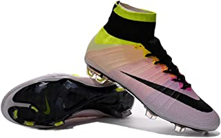 Cailtinel Shoes Mens Mercurial Superfly FG Rainbow Soccer Football Boots