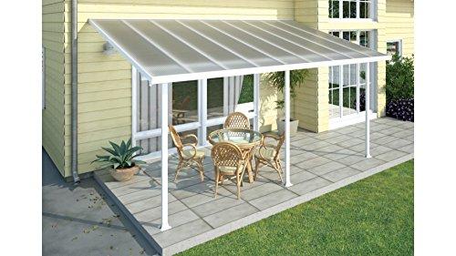 Palram Hochwertige Aluminium Terrassenüberdachung, Terrassendach 300x546 cm (TxB) - weiß inkl. Befestigung