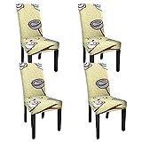 WANYI Funda de silla extensible 4 piezas funda de silla comedor universal antideslizante funda de silla lavable (modelo 36)