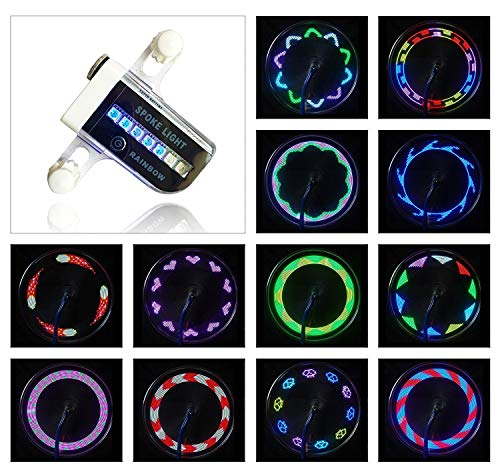 SOULBEST Fahrrad Radlichter - Fahrrad Speichenlicht Felgenbeleuchtung Fahrradfelgenlichter Wasserdicht 14 LED für Nachtfahrten auf MTB-Rädern