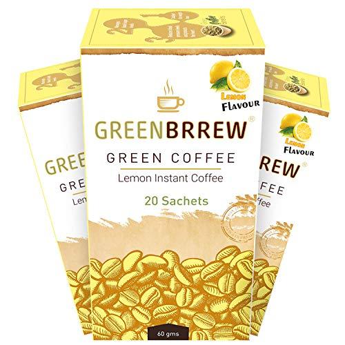 Greenbrrew Instant Green Coffee For Weight Loss Pack Of 3 (Lemon) – Easy To Use