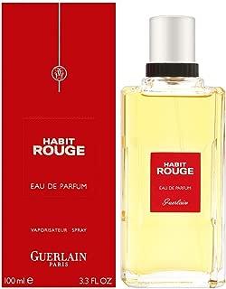 Guerlain Habit Rouge Eau de Parfum Spray for Men, 3.3 Ounce