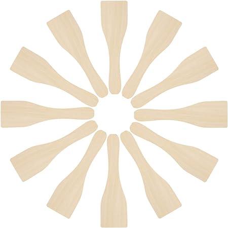 Digyssal 12PCS Spatules à Raclette en Bois Cusine Kit Ustensiles comme Ustensiles de Cuisine Bois de Bambou Ensemble Cuisine en Bois