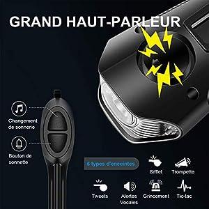 U UZOPI - Luz para bicicleta impermeable, USB, recargable, 4 modos, lámpara LED delantera y trasera de luz potente para bicicleta de montaña, bicicleta de montaña