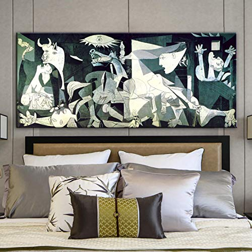 Picasso replica Abstract Modern Canvas Painting Poster and Print Wall Art for Living Room Home Decor Mural 80X160cm Frameless
