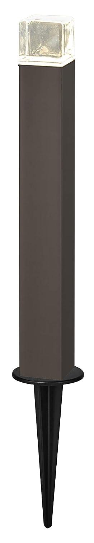 LIXIL(リクシル) TOEX 美彩(BISAI) ローポールライト 角形 透過型 H400 スパイクタイプ オータムブラウン/オータムブラウン