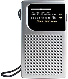 Laser Pocket Radio Am Fm Built-in Speaker and Earphones Socket