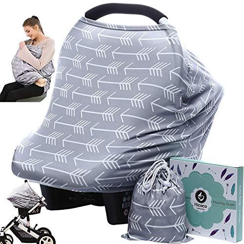 Stilltücher Stilltuch Stillschal Nursing Cover für Unterwegs - Atmungsaktive Himmel Warenkorb Swaddle Decke Pflegeabdeckung|360°Full Privacy Breastfeeding Protection (Pfeil)