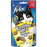 FELIX KnabberMix Dreikäsehoch Katzensnack, Knusper-Leckerlie mit Käsegeschmack, 8er Pack (8 x 60g)