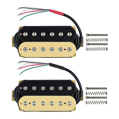 FLEOR Juego de mástil/puente (50 mm / 52 mm) Pastilla de guitarra...