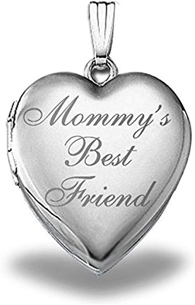 PicturesOnGold.com Sterling Manufacturer OFFicial shop Limited price Silver Mommys Lock Best Friend Heart