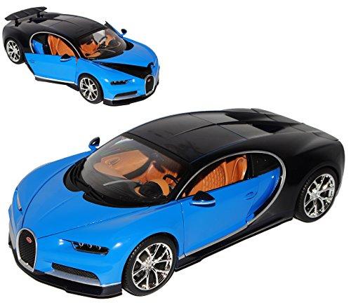 Bugatti Chiron Coupe Blau Ab 2016 1/18 Bburago Modell Auto