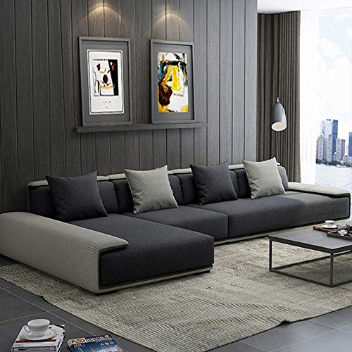 WSN Divano angolare,Sofà a Forma di L Aggiornamento mobili da Giardino Divano ad Angolo Veranda modulare modulare Divano in Rat