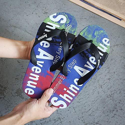 Toallas Verano chanclas de hombre personalidad desgaste zapatos de playa-38_zafiro