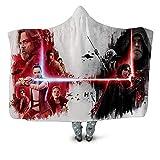 SK-LBB Manta con capucha de Star Wars, muy suave, apta para sofá, silla, oficina, adultos, niños, viajes, de franela (05,150 x 200 cm)