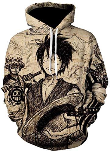PANOZON Sudaderas One Piece Hombre Luffy...