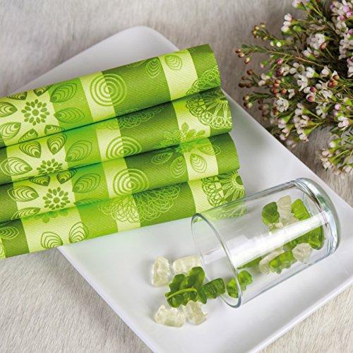 HANTERMANN Servietten Frühling grün Premium Tissue   50 Stück   40 x 40cm   Frühlingssserviette, Sommer   hochwertige Serviette für Hochzeit, Geburtstag, Feier, Party, Grillen   Made in Germany