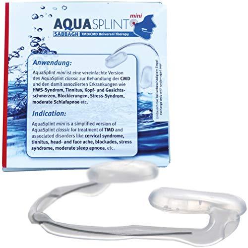 AquaSplint mini selbstjustierende Aufbissschiene, dünne Beiss-Schiene mit Wasser gefüllt zur Behandlung des CMD Syndroms