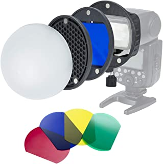 INSSTRO Flash Diffuser Light Softbox Speedlite Flash Accessories Kit with Magnetic Universal Mount Adpater for Canon, for Nikon, for Sony, for Godox Speedlight, and YONGNUO Speedlite