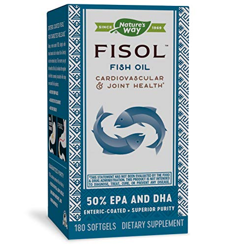 Nature's Way Fisol 50% EPA and DHA Enteric-Coated Fish Oil, No Fishy...