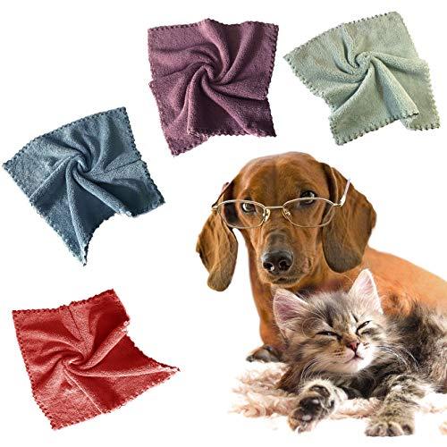 BEBORIA Toalla absorbente de microfibra para mascotas, toalla de secado para gatos y perros, toalla para patas de 4.666 pulgadas (4 unidades) (macho,caqui, aguamarina, Lightcian)