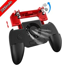 Multi-Functiona Game Controller with 2000mAh Power Bank and Cooling Fan, PUBG Mobile Controller Gamepad L1 R1 Aim and Shoot Trigger, Joystick Remote Grip for 4.5-6.5