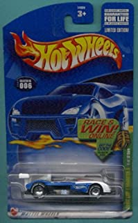Mattel Hot Wheels 2002 Treasure Hunt 1:64 Scale Blue & White Panoz LMP- 1 Roadster 6/12 Die Cast Car #006