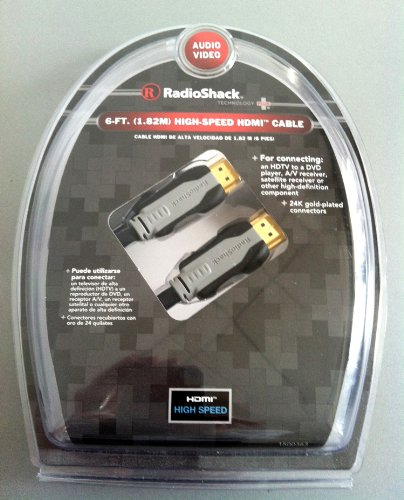 RadioShack 6-Ft. HDMI Cable