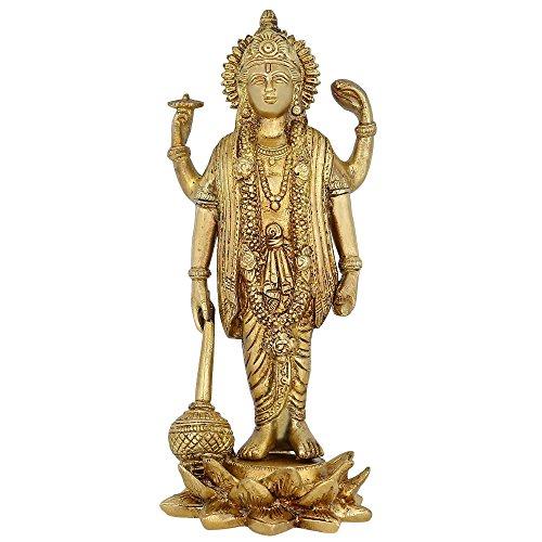 Estatua Religiosa de latón para Puja Mandir de 9 Pulgadas - 1,3 kg