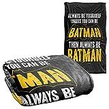 Batman Be Batman Silky Touch Super Soft Throw Blanket 36' x 58',Be Batman