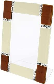 GlassOfVenice Murano Glass Photo Frame Ducale 4X6 Inch