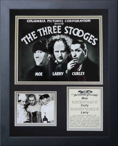 The Three Stooges 11' x 14' Framed Photo Collage by Legends Never Die - Marquee