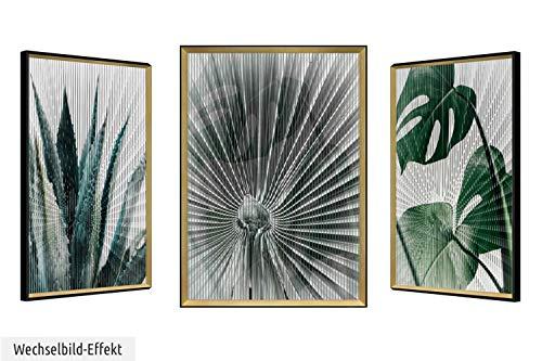 KUNSTLOFT 3D-Effekt: Drei unterschiedliche Motive in einem Bild