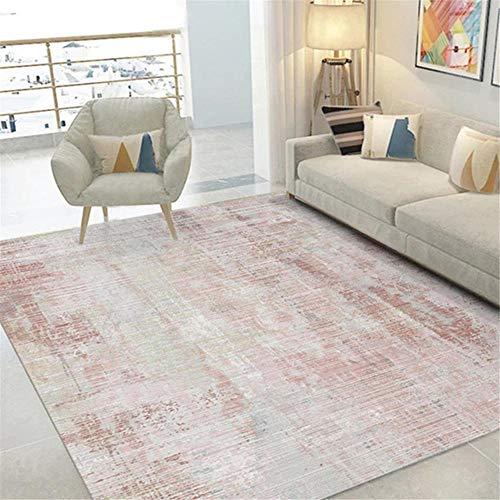 DJHWWD Carpet Corner Carpet pink gray blur old pattern soft living room rug durable Small Rug Non Slip Rug Underlay pink 80X120CM