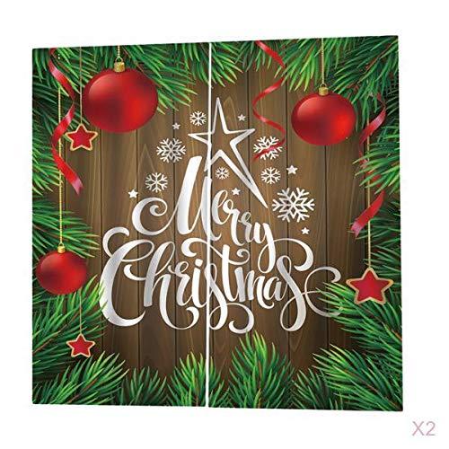 LOVIVER Cortinas De Navidad para Sala De Estar Dormitorio Decoración Cortinas De Ventana 4 Panel