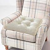 Yzzlh - Cojín para sillones (10 cm de grosor), cojín de algodón suave para ancianos, posoperatorio y embarazo, color beige, 50 x 50 cm)