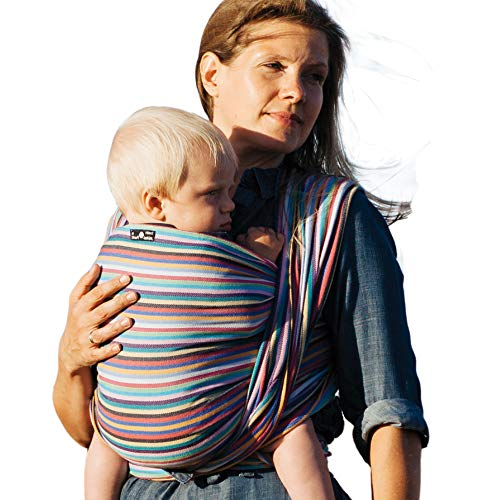DIDYMOS Woven Wrap Baby Carrier Stripes Cleo (Organic Cotton), Size 7