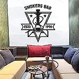 Shisha Club Wandaufkleber Kunst Wandaufkleber für Shisha Raucher Bar abnehmbare Dekoration 42X47cm