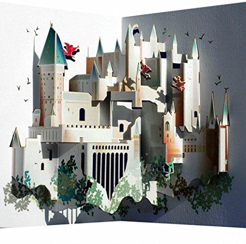 FOREVER Pop Up 3D Karte Grusskarte Geburtstag Gutschein Berühmtes Schloß 16x11cm