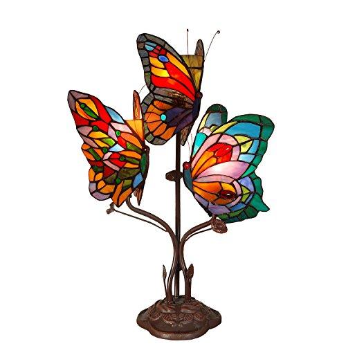 Arte Dal Mondo Schmetterling Nachttischlampen tischlampe glas im tiffany-stil handwerk AB20101