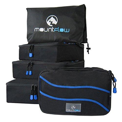 Organizer Valigia - Cubi Organizzatori da Viaggio - Set di 4 Borse per Viaggiare con Sacchetto per la Lavanderia Ideale per Valigie Grandi e Piccole Organizzatore per Zaini e Bagagli